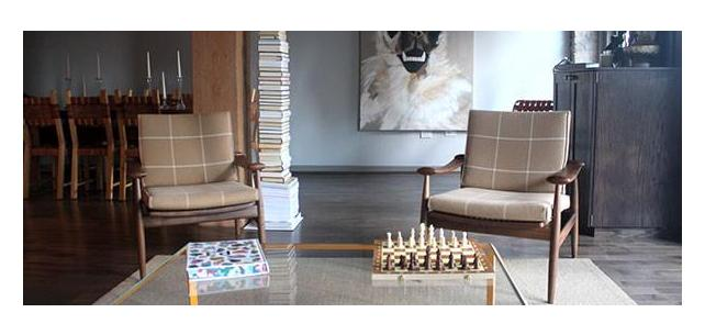 Classic Chair Pair Go Plaid with Ralph Lauren Westcliff Tattersal Camel