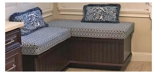 Beautiful Duralee Window Seat Cushions Steal the Show in Master Retreat