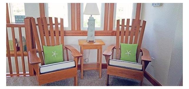 Adirondack Chairs Shine With Custom Outdura Sparkle Seat Cushions