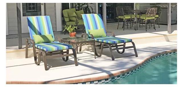 Variety of Coordinating Sunbrella Cushions Serve Multiple Purposes on Patio