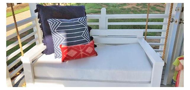 Enjoy the Outdoors With This Bright White Sunbrella Daybed Cushion