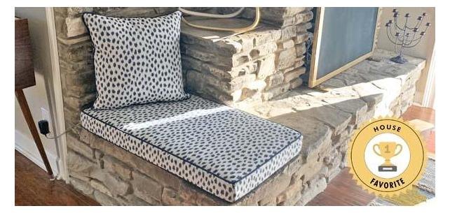 Fireplace Bench Cushion Works to Add Extra Seating, Style, and Comfort