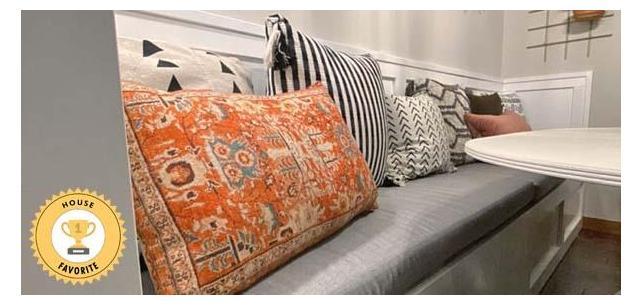 Custom Sunbrella Cushions Ground Boho-Inspired Kitchen Nook