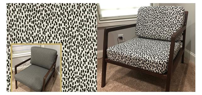 Nate Berkus Fabric Transform Chair from Dull to Contemporary
