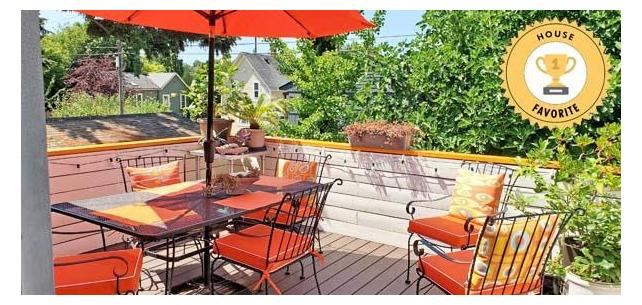 Bright, Bold Patio Space Enriched with Sunbrella Wins House Favorite Vote