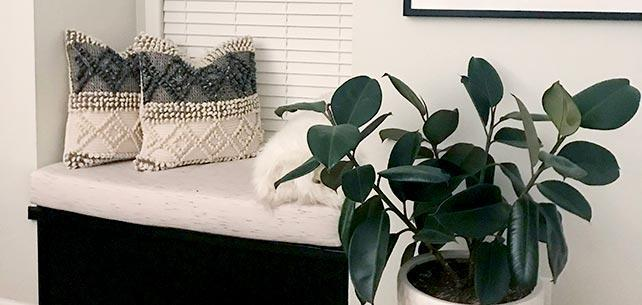 Sunbrella Frequency Parchment Window Seat Cushion is the Definition of Hygge