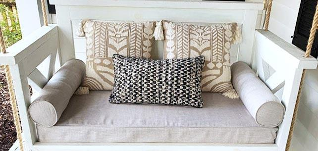 Snug Daybed Ups the Comfort with Sunbrella Echo Ash