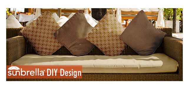 DIY Sunbrella Fabric Design - Fusion Earth Tones