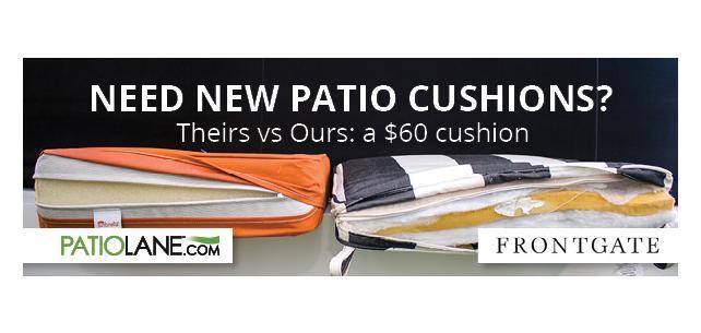 Patio Lane Custom Sunbrella Cushion vs. Frontgate. Who wins?