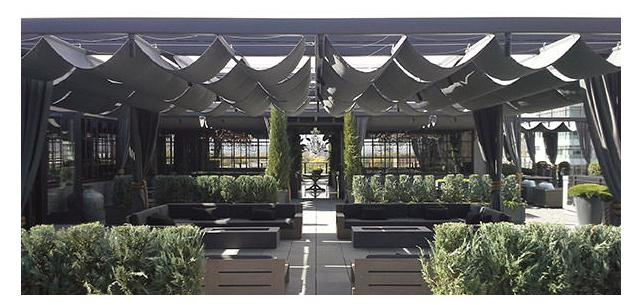 Our Pergola Cover Project at Restoration Hardware at Cherry Creek