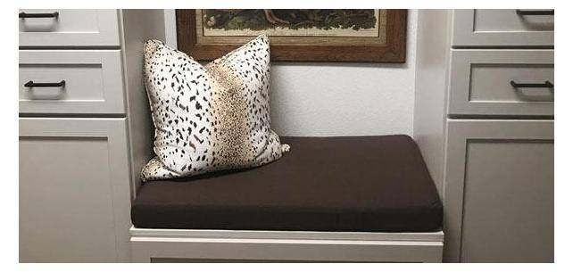 New Sunbrella Canvas Mink Brown Cushion Fits Perfect with Existing Decor
