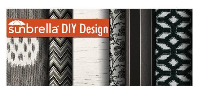 Sunbrella Fabric DIY Design – Black and White