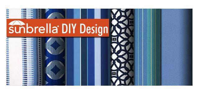 Sunbrella Fabric DIY Beautiful Blues