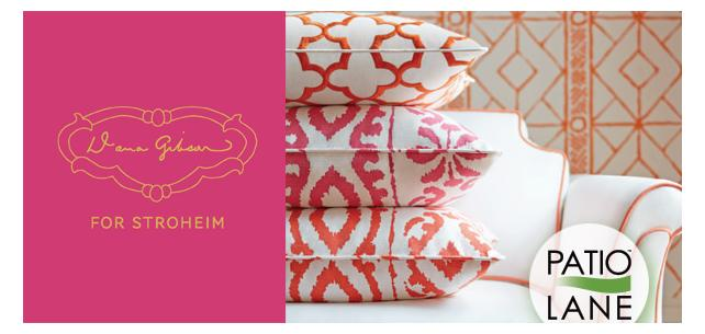 Classic and Modern Co-Exist with the Dana Gibson Fabric Collection for Stroheim