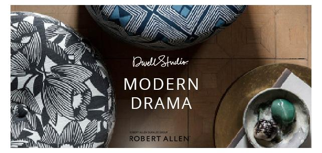 Immerse Yourself in Glamour With the Modern Drama Collection by Robert Allen for DwellStudio