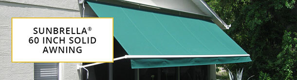 Sunbrella 60 Inch Solid Awning Collection