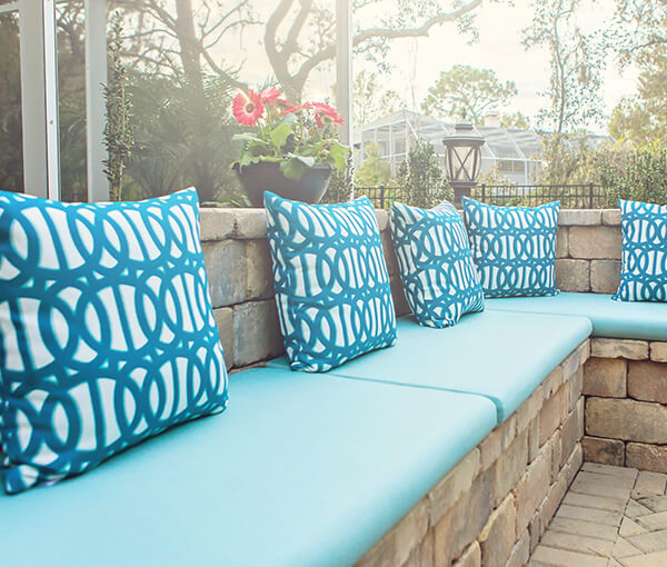 Custom Outdoor Pillows and Throws