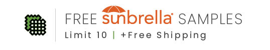 up to 10 free Sunbrella samples - largest collection anywhere