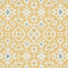 F Schumacher Crusoe Ikat Yellow 76523 World View Collection Indoor Upholstery Fabric