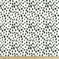 Premier Prints Togo Black Indoor-Outdoor Upholstery Fabric