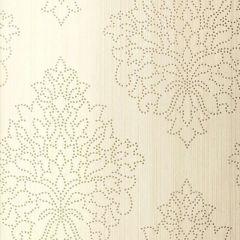 F-Schumacher Beaded Damask-Alabaster 5005660 Luxury Decor Wallpaper