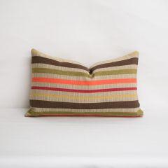 Indoor/Outdoor Sunbrella Solano Fiesta - 20x12 Horizontal Stripes Throw Pillow (quick ship)