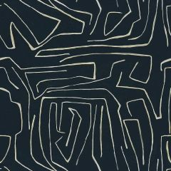 Groundworks Graffito Onyx / Beige GWF-3530-816 by Kelly Wearstler Multipurpose Fabric