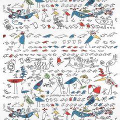F. Schumacher Aviary Multi On White 2705511 Decor Wallpaper