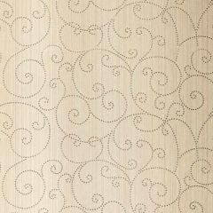 F-Schumacher Beaded Scroll-Aged Silver 5005720 Luxury Decor Wallpaper