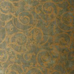 F-Schumacher Bernini Scroll-Mist 528172 Luxury Decor Wallpaper