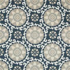 Kravet Sunbrella Exotic Suzani Indigo 31969-1516 Oceania Indoor Outdoor Collection Upholstery Fabric
