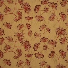 Mulberry Home Meadow Silk Red / Gold FD622-V102 Imperial Collection Drapery Fabric