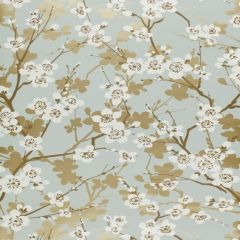 F-Schumacher Ming Cherry Blossom-Aqua 5001070 Luxury Decor Wallpaper