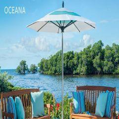 Fiberbuilt 7.5ft Square Oceana Umbrella With Sunbrella Fabric