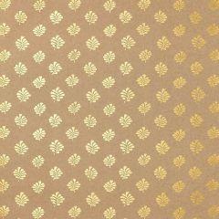 F-Schumacher Bakara Leaf-Gilt 5005233 Luxury Decor Wallpaper
