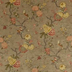 GP and J Baker Oriental Bird Velvet Mole BP10818-1 Signature Velvets Collection Multipurpose Fabric
