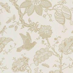 F-Schumacher Bali Vine-Sandstone 5005001 Luxury Decor Wallpaper