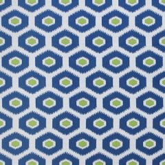 Sunbrella Thibaut Geode Ikat Blue and Green W80371 Calypso Collection Upholstery Fabric