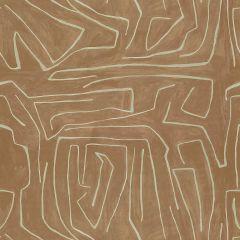 Groundworks Graffito Salmon / Cream GWF-3530-117 by Kelly Wearstler Multipurpose Fabric