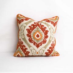 Indoor Trend Tigerlily - 18x18 Throw Pillow with Welt (quick ship)