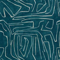 Groundworks Graffito Teal / Pearl GWF-3530-53 by Kelly Wearstler Multipurpose Fabric