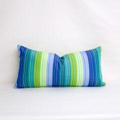 Indoor/Outdoor Sunbrella Seville Seaside - 24x12 Vertical Stripes Throw Pillow (quick ship)
