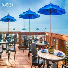 Fiberbuilt 9ft Octagon Bambusa Umbrella With Sunbrella Fabric