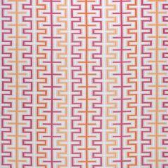 Sunbrella Thibaut Zipper Peony and Orange W80333 Calypso Collection Upholstery Fabric