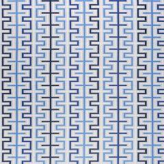 Sunbrella Thibaut Zipper Blue W80335 Calypso Collection Upholstery Fabric