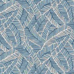 F-Schumacher Abstract Leaf-Navy 5007533 Luxury Decor Wallpaper