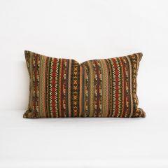 Indoor/Outdoor Sunbrella Chimayo Partridge - 20x12 Vertical Stripes Throw Pillow (quick ship)