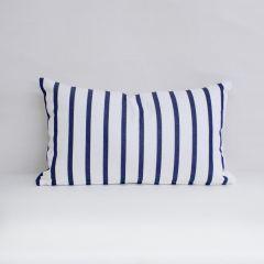Indoor/Outdoor Sunbrella Lido Indigo - 20x12 Vertical Stripes Throw Pillow (quick ship)