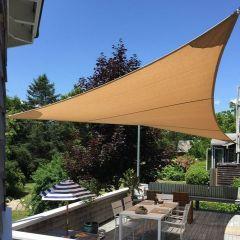 DIY Shade Sail - Right Angle Triangle - 13x13x18 feet 5 inches