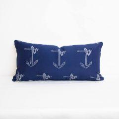 Indoor Duralee Navy 15704 - 24x12 Throw Pillow (quick ship)